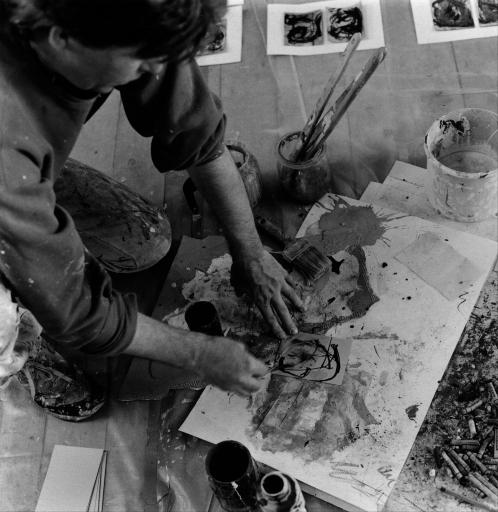 Bernd Behrends im Atelier